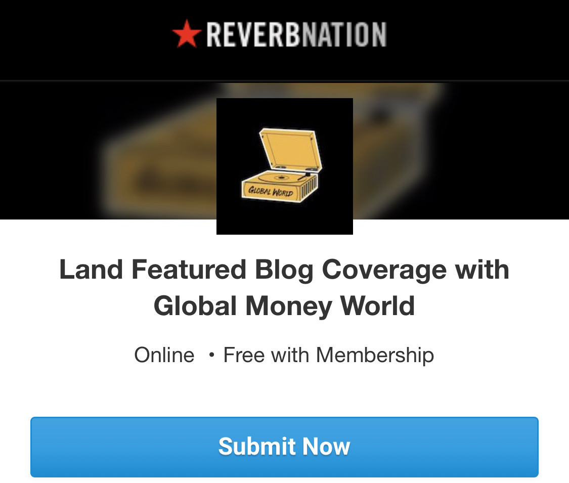 Global Money World Partners with Reverb Nation for Featured Blog Posts