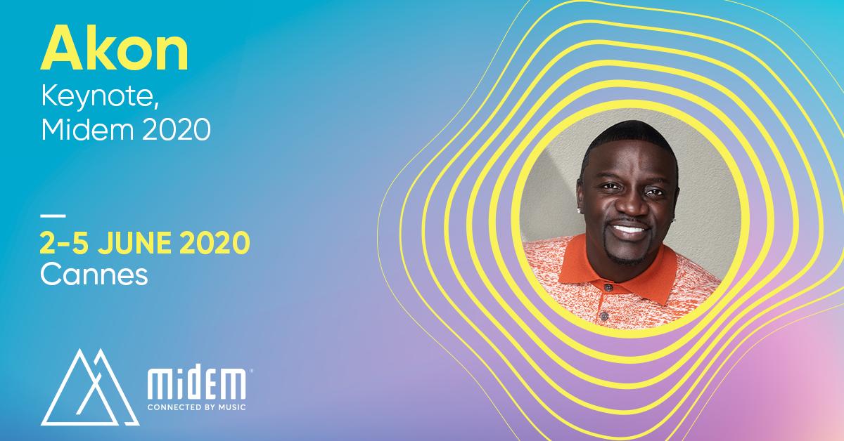 Iconic Artist Akon Announced as Keynote Speaker for Midem 2020