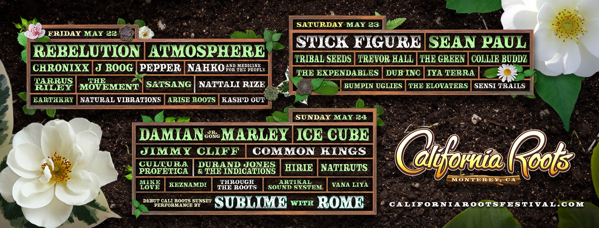 The California Roots Music and Arts Festival Announce It's Final Round of Artists for 2020Ice Cube, Atmosphere, and Sean Paul join Lineup