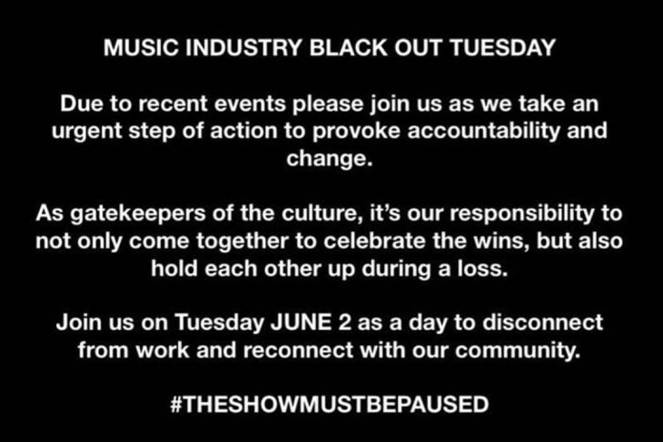Music Industry Black Out Tuesday