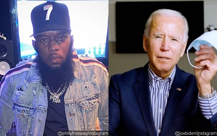Biden Offers Words of Comfort to the Loss of Freeway's Son During Philly Rally
